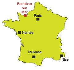 Localisation de Bernières sur Mer dans le Calvados