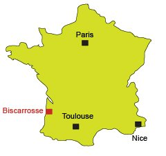 Location of Biscarrosse in France