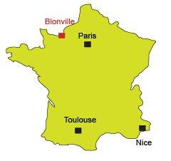Carte de Blonville en Normandie