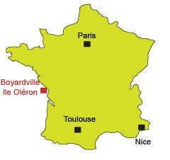 Location of Boyardville in Oleron in France