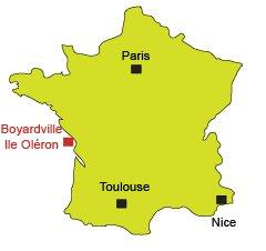 Carte de Boyardville sur l'Ile d'Oléron