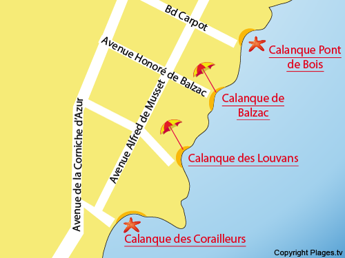 Map of the Louvans Calanque in St Aygulf