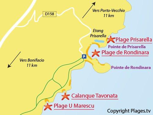 Tavonata Cove in Bonifacio South Corsica France Plagestv