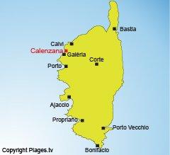 Mappa di Calenzana in Corsica