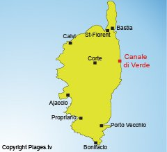 Location of Canale di Verde in Corsica