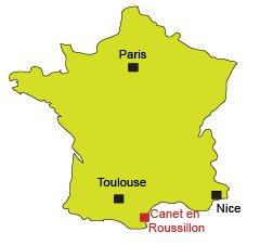 Localisation du Canet en Roussillon