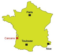Location of Carcans in France