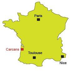 Carte de Carcans en Gironde