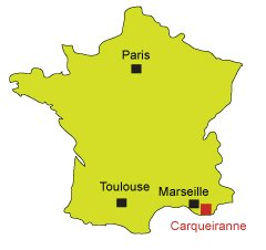 Map of Carqueiranne in France