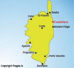 Localisation de Castellare di Casinca en Corse