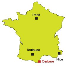 Location of Cerbère in France