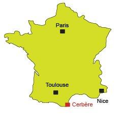 Localisation de Cerbère - 66