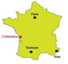 Carte de Châtelaillon-Plage