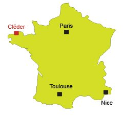 Location of Cléder in Brittany in France