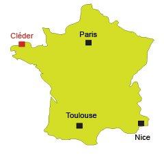 Localisation de Cléder en Bretagne