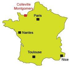 Localisation de Colleville Montgomery en Normandie