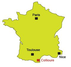 Location of Collioure in France