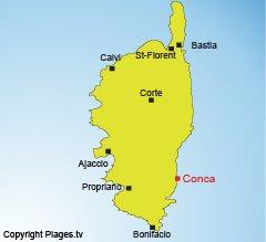 Localisation de Conca en Corse