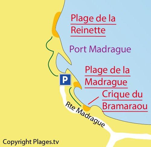 Plan de la crique du Bramaraou à St Cyr sur Mer