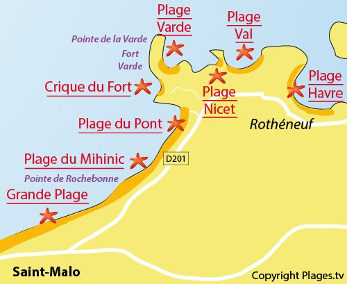 Map of the Fort Varde Creek in St Malo