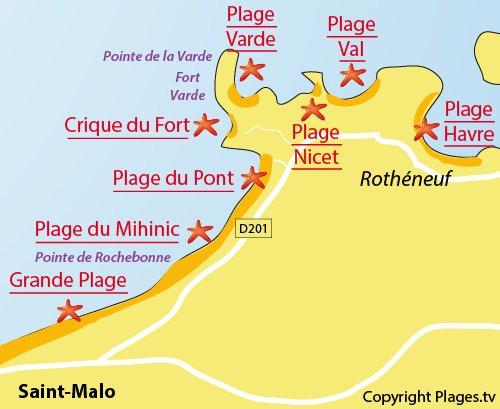 Plan de la crique du Fort de St Malo
