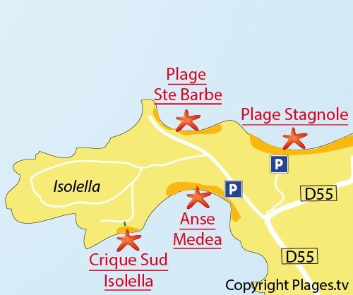 Map of Isolella South Cove in Pietrosella