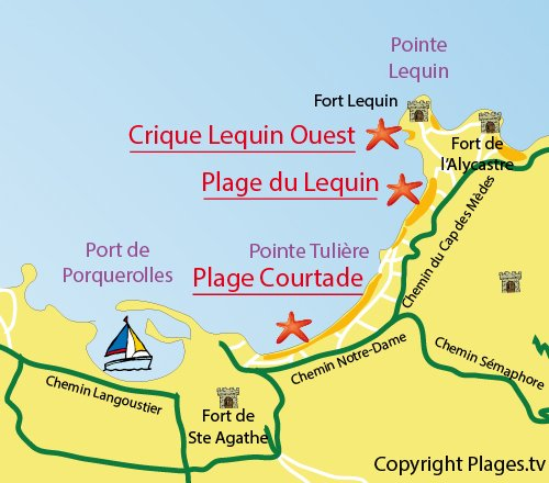 Crique du Lequin Ouest Porquerolles (83) Var PACA - Plages.tv