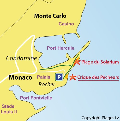 Map of the Fisherman Cove of Monaco