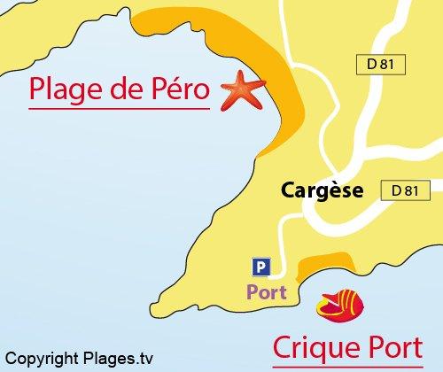 Map of Port Cove in Cargèse