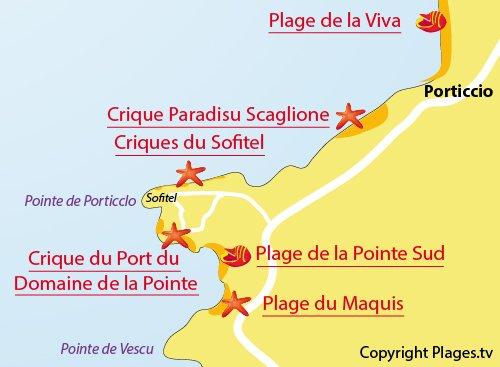 Map of Sofitel Cove in Porticcio