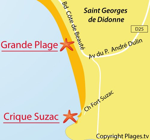 Map of Suzac Cove - St Georges de Didonne