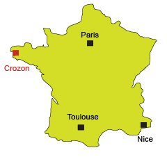 Location of Crozon in France - Brittany
