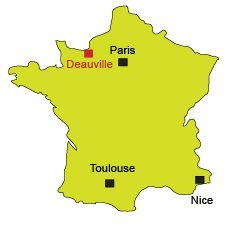 Location of Deauville in France