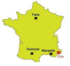 Mappa di Eze - Francia
