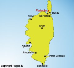 Location of Farinole in Corsica