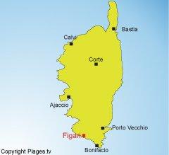 Carte De La Corse Figari.Plages Figari 2a Station Balneaire De Figari Corse