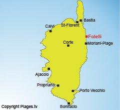 Localisation de Folelli en Corse