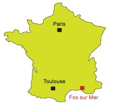 Location of Fos sur Mer in France