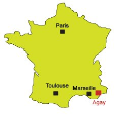 Location of Agay in France