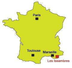 Carte des Issambres dans le Var