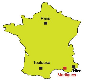 Carte France Martigues