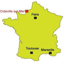Localisation d'Octeville sur Mer
