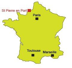 Location of Saint Pierre en Port in France