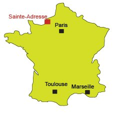 Location of Sainte-Adresse in France