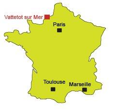Map of Vattetot sur Mer in France