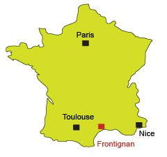 Map of Frontignan in France