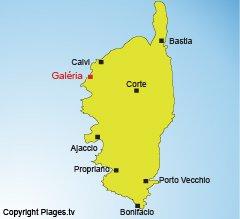 Carte de Galéria en Corse