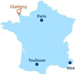 Localisation de Glatigny dans la Manche - Normandie