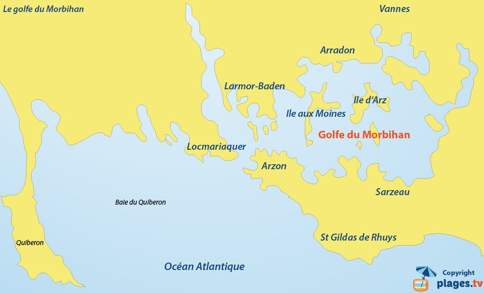 Carte du golfe du Morbihan