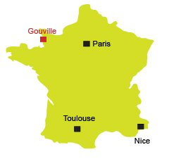 Location of Gouville sur Mer in France